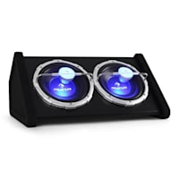 2100W LED 10 auna Basswaver X 10L Active Car Subwoofer 2 x 25cm