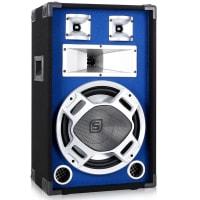 Souprava PA reproduktorů SKYTEC, 30 CM, modrý LEd světelná efekt, 2x600W