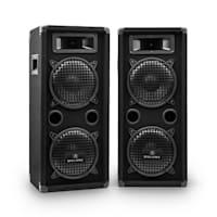 DJ PA System 'DJ-25M' 1600W Speakers Amplifier Mixer Mics
