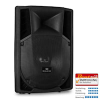 """Pair of Malone 15"""" Active PA Speakers 2 x 1500W"""