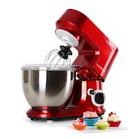 Carina Rossa Set 800W Stand Mixer + 1.5L Blender Red