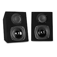 DJ-25, комплект оборудване, DJ миксер + Auna ST-2000, високоговорител, черно / синьо