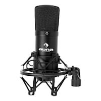 Auna CM001B mikrofonisetti V3 kondensaattorimikrofoni kääntövarrella musta