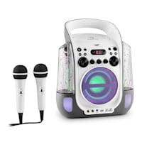 Kara Liquida grigio + Dazzl Mic Set Karaoke Microfono Luci LED