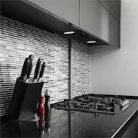 HEKTOR Dunstabzugshaube Beleuchtung Aluminium-Filter Timer schwarz