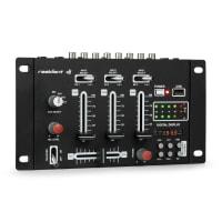 DJ-21 BT DJ-Mixer Set di Mixer Bluetooth USB Microfono Nero