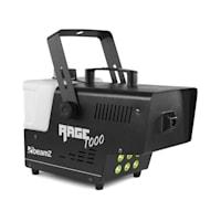 Rage 1000LED, výrobník mlhy, včetně mlžné tekutiny, 6 x 3 W RGB LED, 1000 W, 125 m³/min., 2 l objem