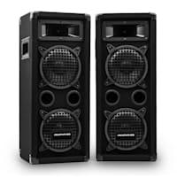 PW-65x22 MKII, PA Karaoke Set, Amplifier + 2 Passive PA Boxes + Mixer + 2 Microphones