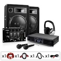"Sistema dj set pa amplificatore casse 15"" mixer usb mp3"