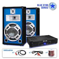 """PA Set Blue Star Series """"Starter"""" Lautsprecher Verstärker"""