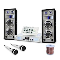 "Set DJ ""Polar Bear"" mixer amplificatore e casse 2200W"
