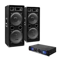 """DJ SET """"DJ-20"""" PA-Verstärker PA-Box Kabel 2000W"""