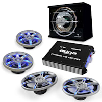 auna BeatPilot FX-413 Car-Audio-Set 6000W