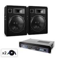 """Malone DJ """"Boom"""" PA Sound System with Amplifier, 15"""" Speaker & Cables"""