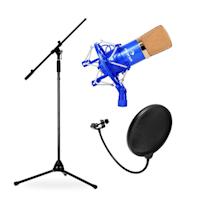 Bühnen- & Studio Mikrofonset CMBG001 mit XLR-Mikrofon, Stativ & Mikrofonabschirmung
