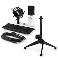 MIC-900WH USB Set Microfono V1 | Condensatore-Microfono bianco | Stativo