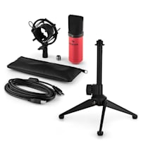 MIC-900RD USB Set Microfono V1 | Condensatore-Microfono rosso | Stativo