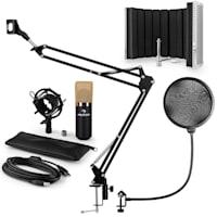 MIC-900BG Set Microfoni USB Condensatore V5 Anti-Pop Oro