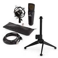 MIC-920B USB Set Microfono V1 - Microfono Nero a Membrana Grande & Stativo