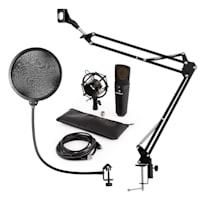 MIC-920B Set Microfoni USB Condensatore V4 Braccio Microfono Anti Pop Nero