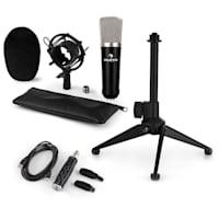 CM003 Set Microfono USB V1 Microfono A Condensatore USB Convertitore Stativo