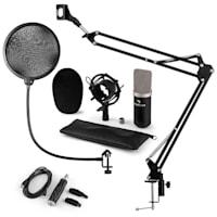 CM003 Mikrofon-Set V4 Kondensatormikrofon USB-Konverter Mikrofonarm schwarz