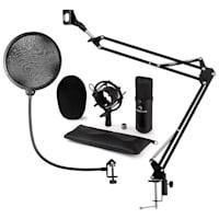 CM001B Set Microfono V4 Condensatore Braccio Anti-Pop nero