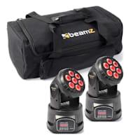 Set svetlobnih efektov 2x MHL -74 Moving Head Mini Wash & 1 x Soft Case