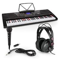 Etude 255 USB Lern-Keyboard mit Kopfhörer, Mikrofon und Klinke-Adapter