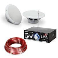 """Terrassen & Badezimmer HiFi Verstärker Speaker Sound Set 5"""" 4-tlg wasserdicht"""