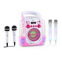 Kara Liquida karaoke rendszer, rózsaszín + Dazzl karaoke mikrofon készlet, LED megvilágítás