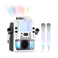 Kara Liquida BT Grigio + Dazzl Mic Set Impianto Karaoke Microfono Illuminazione LED