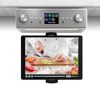 """Connect Soundchef keittiöradio tabletinpidikkeellä DAB+ UKW 2x3""""-kaiuttimet valkoinen"""