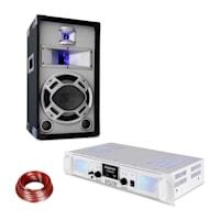 SPL700MP3 Verstärker-Set mit Lautsprecher weiß