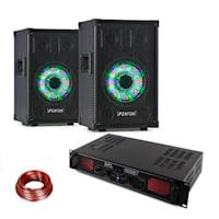 TL8LED, sada zařízení, PA reproduktor + Skytec SPL1000BT, PA zesilovač