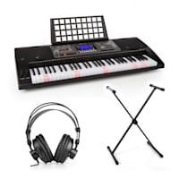 Etude 450 Lern-Keyboard-Set Studiokopfhörer Keyboard-Ständer