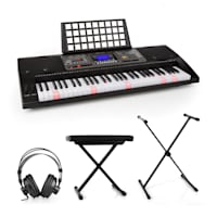 Etude 450 Lern-Keyboard-Set Studiokopfhörer Keyboard-Ständer Sitzbank