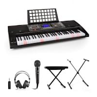Etude 450 Lern-Keyboard Kopfhörer Mikrofon Ständer Sitzbank Adapter
