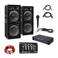 SPL700EQ Set Amplificatore con 2 Altoparlanti Mixer Microfono
