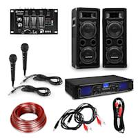 eStar HiFi party set PA per DJ | amplificatore/altoparlante/mixer/microfoni/cavo