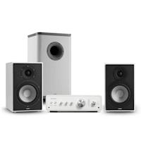 Drive 802 Stereo-Set Verstärker + 2 Regallautsprecher + Subwoofer BT5.0 Weiß