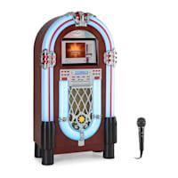 "Graceland Touch Jukebox 12"" Pannello Touch Wi-Fi, CD, BT, Microfono effetto legno"