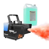 Rage 1000LED Nebelmaschine inkl. Nebelfluid 6 x 3 Watt RGB LED 1000W 125m³/min 2l Vol
