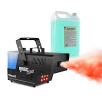 Rage 1500LED, uređaj za maglu, uključujući tekućinu za maglu, LED, 1500 W, 350 m³ / min.