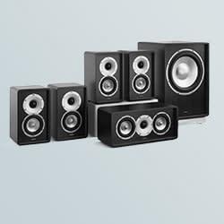 Hi-fi e conjunto de alto falantes