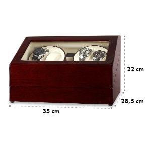 Horlogeopwinder showcase vitrine 10 horloges - handgemaakt