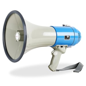 Mégaphone porte voix 60W 1000m sirène manif foot