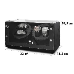 CA2PM Présentoir pour 4 montres optique carbone