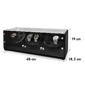 CA3PM Watch Winder Display Case for 6 Watches