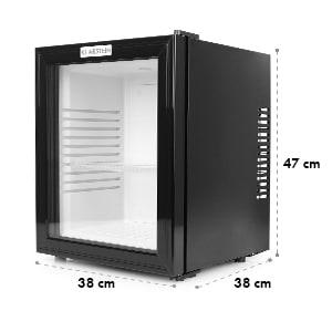 MKS-12 Mini réfrigérateur minibar silencieux 24l porte verre -noir